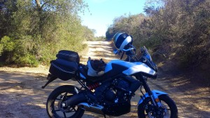 The Versys on a Dirt Road